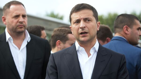 Prezydent Ukrainy Wołodymyr Zełenski - Sputnik Polska
