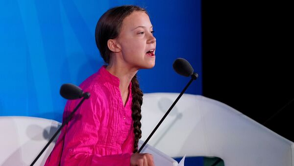 Szwedzka aktywistka Greta Thunberg - Sputnik Polska