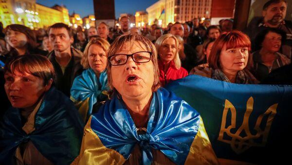 Protest przeciwko formule Steinmeiera, Kijów - Sputnik Polska