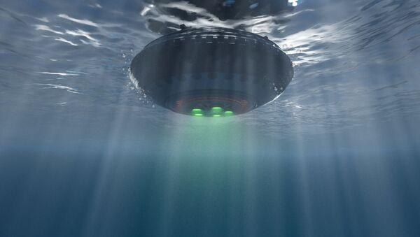 Ilustracja UFO pod wodą - Sputnik Polska