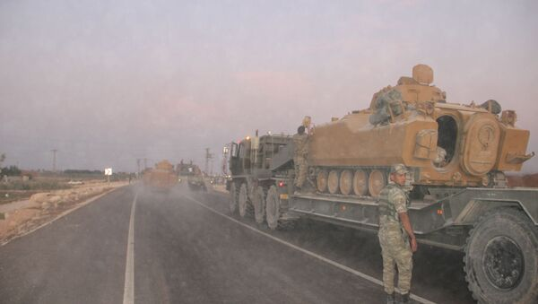 Tureckie oddziały na granicy z Syrią - Sputnik Polska