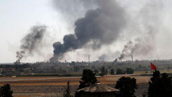 Syryjskie miasto, operacja Turcji - Sputnik Polska