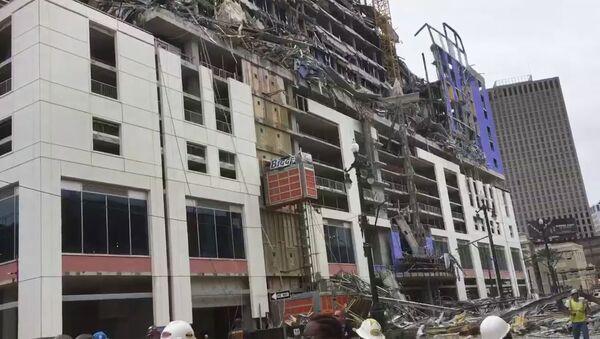 Zawalenie Hard Rock Hotel w Nowym Orleanie - Sputnik Polska