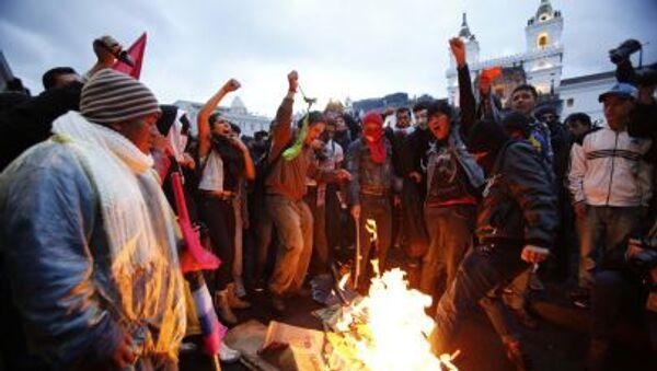 Protesty w Ekwadorze - Sputnik Polska