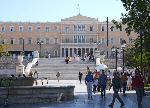 Plac Syntagma i Dwór Królewski w Atenach  - Sputnik Polska