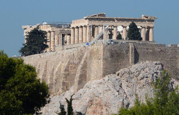 Partenon - świątynia poświęcona Atenie Dziewicy na akropolu ateńskim - Sputnik Polska