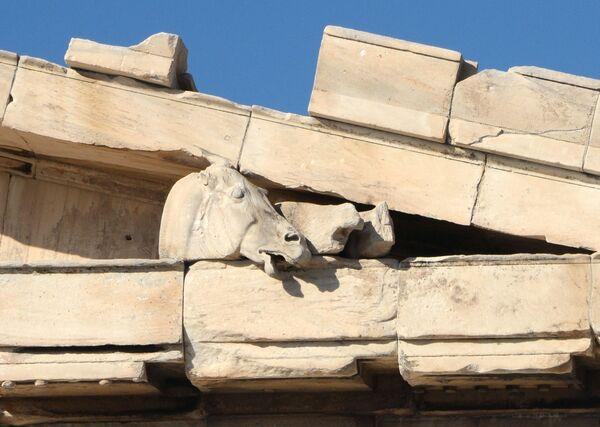 Detale wschodniego frontonu Partenonu - Sputnik Polska