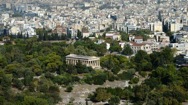 Widok na Ateny z Akropolu  - Sputnik Polska