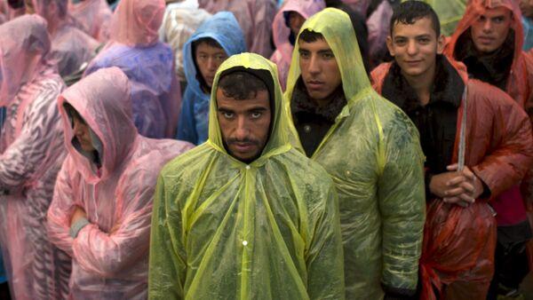 Syryjscy uchodźcy na granicy Serbii i Chorwacji - Sputnik Polska