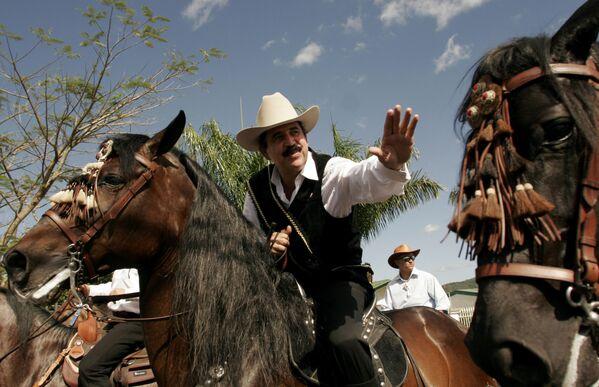 Prezydent Hondurasu Manuel Zelaya podczas tradycyjnej parady jeździeckiej w Palmares - Sputnik Polska
