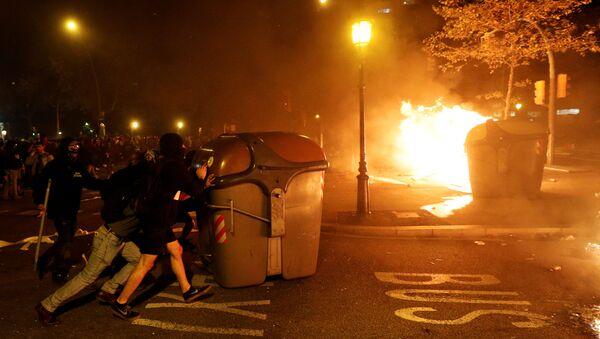 Protesty w Barcelonie - Sputnik Polska