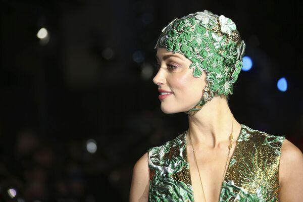 Amerykańska aktorka Amber Heard na premierze filmu Aquaman w Londynie  - Sputnik Polska