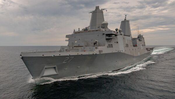 Okręt desantowy USS Portland (LPD-27) Marynarki Wojennej USA - Sputnik Polska