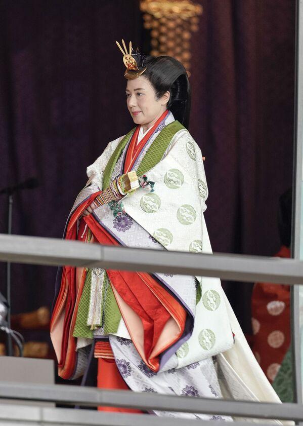 Cesarzowa Masako podczas ceremonii intronizacji cesarza Naruhito w Tokio - Sputnik Polska