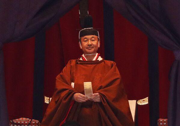 Nowy cesarz Japonii Naruhito w Pałacu Cesarskim w Tokio  - Sputnik Polska