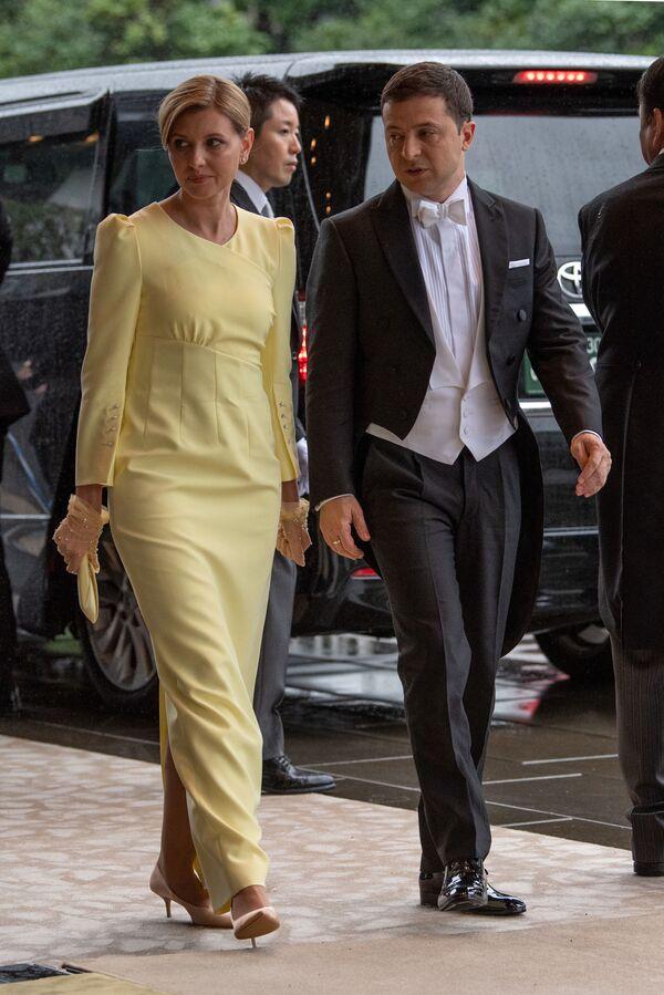 Prezydent Ukrainy z żoną przybyli na ceremonię intronizacji cesarza Naruhito - Sputnik Polska