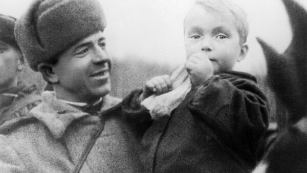 Żołnierz Armii Czerwonej. Norwegia. 1944 r. - Sputnik Polska