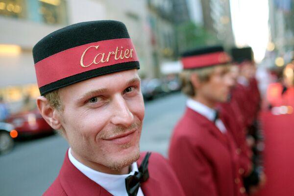 Portier na imprezie Cartier w Nowym Jorku - Sputnik Polska