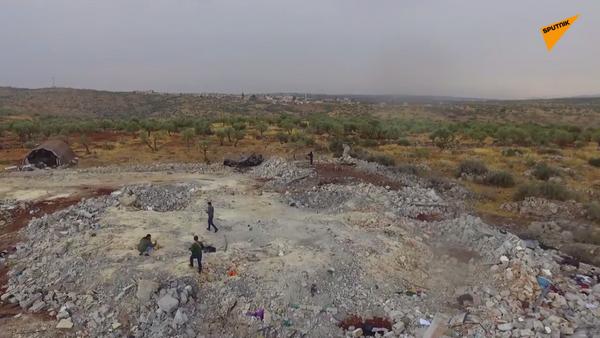 Ruiny kryjówki przywódcy ISIS Abu Bakry al-Bagdadiego - Sputnik Polska