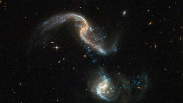 Proces zlewania się galaktyk, zarejestrowany z pomocą teleskopu Hubble'a - Sputnik Polska