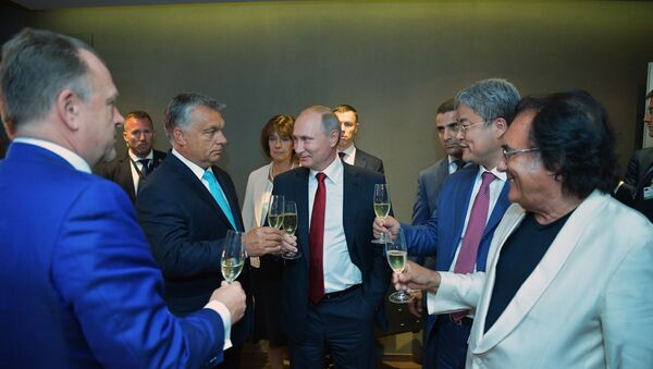 Władimir Putin i Viktor Orban - Sputnik Polska