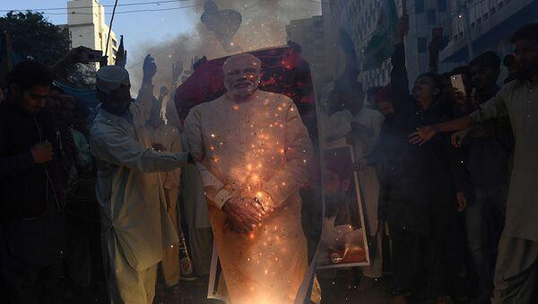 Antyindyjskie protesty w Kaszmirze - Sputnik Polska
