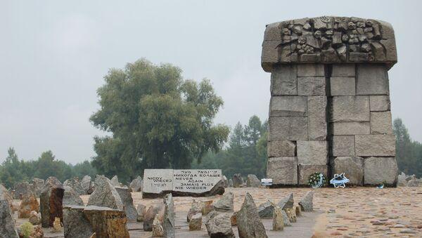 Pomnik upamiętniający ofiary obozów Treblinka-1 i Treblinka-2 - Sputnik Polska