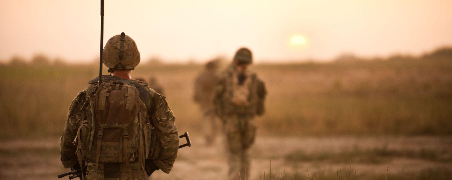 Brytyjscy żołnierze na patrolu w Afganistanie - Sputnik Polska, 1920, 22.04.2021