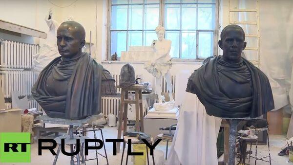 Rzeźby Putina i Obamy - Sputnik Polska