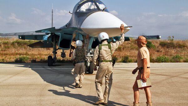 Baza lotnicza Hmelmin  w Syrii, skąd startują rosyjskie samoloty - Sputnik Polska