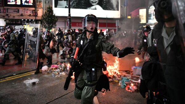 Protesty w Hongkongu - Sputnik Polska