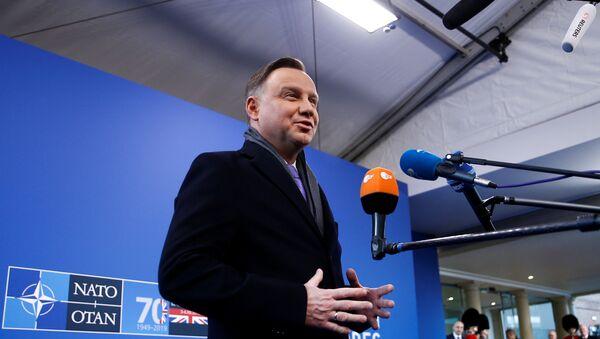 Andrzej Duda podczas szczytu NATO w Londynie - Sputnik Polska