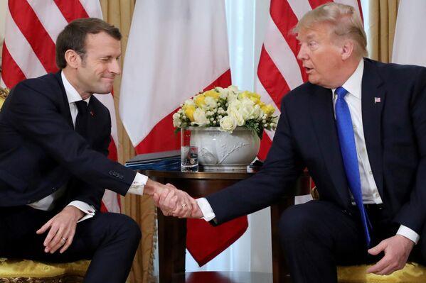 Prezydenci USA i Francji na szczycie NATO w Londynie - Sputnik Polska