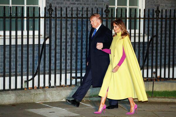 Prezydent USA Donald Trump z żoną Melanią w Londynie  - Sputnik Polska