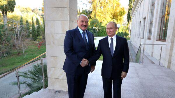 Putin i Łukaszenka w Soczi - Sputnik Polska