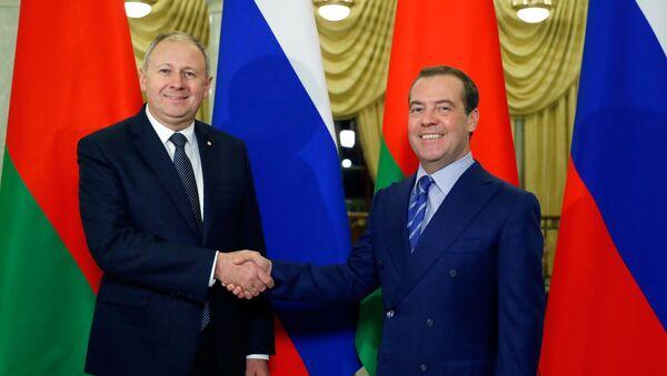 Rozmowy premierów Rosji i Białorusi  - Sputnik Polska