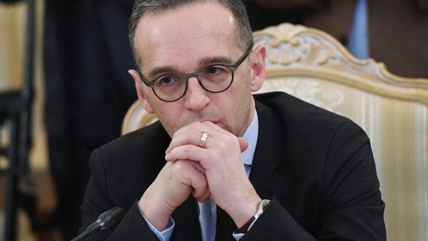 Minister spraw zagranicznych Niemiec Heiko Maas podczas spotkania z ministrem spraw zagranicznych Rosji Siergiejem Ławrowem - Sputnik Polska