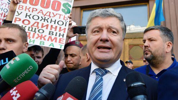 Były prezydent Ukrainy Petro Poroszenko - Sputnik Polska