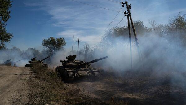 Wycofanie broni o kalibrze mniejszym niż 100 mm w Ługańskiej Republice Ludowej - Sputnik Polska