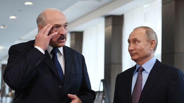 Aleksandr Łukaszenka i Władimir Putin - Sputnik Polska