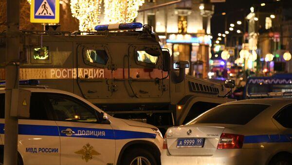 Zdjęcie z miejsca strzelaniny pod gmachem FSB w Moskwie - Sputnik Polska