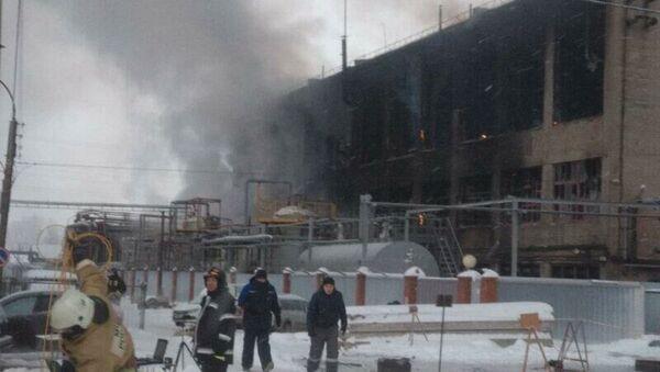 Pożar w zakładzie petrochemicznym w Ufie - Sputnik Polska