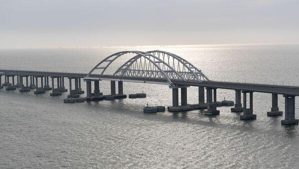 Most Krymski przed ceremonią otwarcia ruchu kolejowego  - Sputnik Polska
