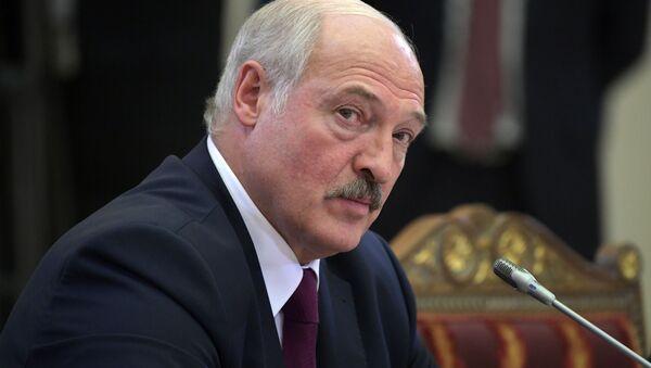 Prezydent Białorusi Alaksandr Łukaszenka na nieformalnym spotkaniu liderów WNP - Sputnik Polska