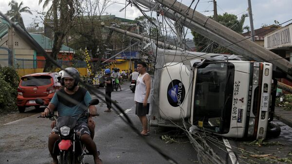 Tajfun na Filipinach - Sputnik Polska