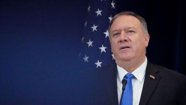 Amerykański sekretarz stanu Mike Pompeo  - Sputnik Polska