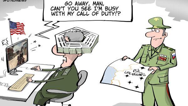 Nie widzisz, jestem zajęty! Gram w moją Call of Duty! - Sputnik Polska