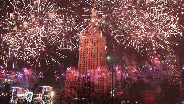 Fajerwerki w Warszawie - Sputnik Polska