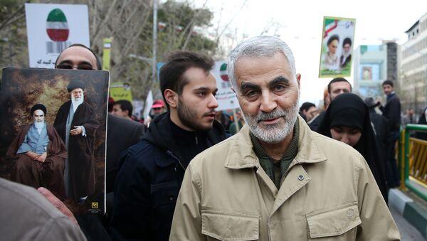 Dowódca elitarnej jednostki Al-Kuds Irańskiego Korpusu Rewolucji Islamskiej generał Kasem Sulejmani w Teheranie - Sputnik Polska