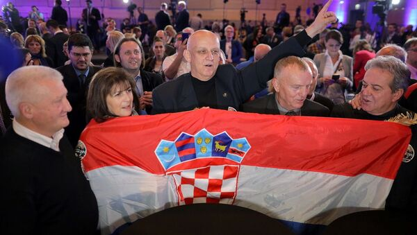 Zwolennicy Kolindy Grabar-Kitarovic  - Sputnik Polska